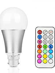 abordables -12W 700-800lm Ampoules LED Intelligentes A60(A19) 15 Perles LED LED Intégrée Intensité Réglable Décorative Commandée à Distance RGB +