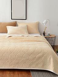 Недорогие -Вафельная ткань, С принтом Однотонный Полиэстер /хлопок одеяла
