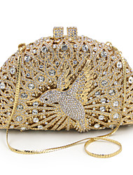 Women Bags Metal Clutch Metallic for Event/Party All Seasons Gold
