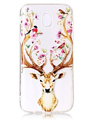 Case For Samsung Galaxy J7 Perx J7 (2017) Case Cover Deer Head Pattern Feel Varnish Relief High Penetration TPU Material Phone Case For J5 (2017)