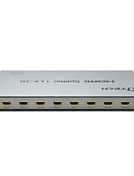 DTech HDMI 1.4 Splitter HDMI 1.4 to HDMI 1.4 Splitter Female - Female One Input Eight Output