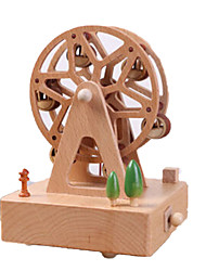 cheap -Music Box Wood Circular Horse Carousel Ferris Wheel Unisex Gift