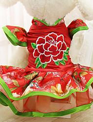 Chien Costume Robe Vêtements pour Chien Soirée Cosplay Princesse Violet Rouge Rose Costume Pour les animaux domestiques