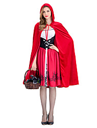 cheap -Little Red Riding Hood Cosplay Costume Masquerade Women's Adults' Halloween Carnival Festival / Holiday Halloween Costumes Red Other