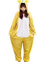 abordables -Kigurumi Pijama Oso Disfraz Pijama Mono Pijama Franela de Algodón Cosplay por Adulto Ropa de Noche de los Animales Navidad Festival /