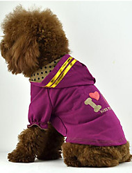 cheap -Dog Shirt / T-Shirt Hoodie Dog Clothes Casual/Daily Letter & Number Purple Brown Pink Costume For Pets