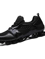 Недорогие -Для мужчин Спортивная обувь Беговая обувь Удобная обувь Тюль Полиуретан Осень Зима Атлетический Повседневные На эластичной лентеНа