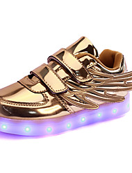 LED Shoes Girl's Boys' Sneakers Light Up Shoes Novelty Synthetic Fall Winter Casual Party & Evening Dress LED Hook &Loop Flat HeelBlushing Pink Silver