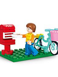Brinquedos de Faz de Conta Blocos de Construir Bonecos em Blocos de Montar Brinquedos Forma Cilindrica Castelo Casa Peças Para Meninas