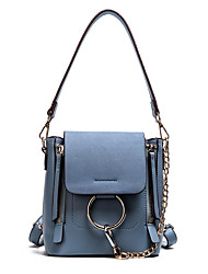Women Bags All Seasons PU Shoulder Bag Buckle for Casual Sports Office & Career Outdoor Blue Black Red Gray Brown