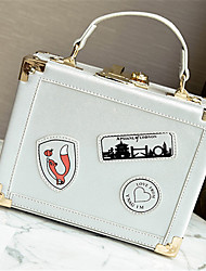 cheap -Women Bags PU Crossbody Bag for Casual All Seasons White Black Silver Red