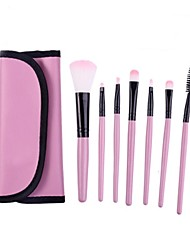 Makeup Brush Set Tools Make-up Toiletry Kit Soft Make Up Brush Set Professional Case 7 Pcs