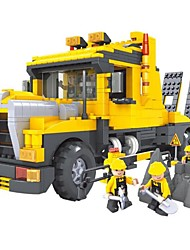 cheap -Building Blocks Toys Excavating Machinery Engineering Plastics Children's Boys Pieces