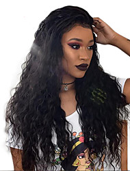 cheap -Remy Human Hair Full Lace Wig Wavy / Water Wave 180% Density Natural Hairline / African American Wig / 100% Hand Tied Women's Medium Length / Long Human Hair Lace Wig / Body Wave