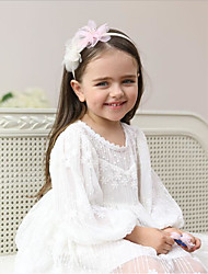Children's Accessories/Powdery Lace Flower Hair Band/Large Child Headband