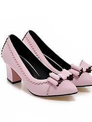 Damen Schuhe Echtes Leder PU Sommer Komfort High Heels Für Normal Weiß Schwarz Beige Rosa