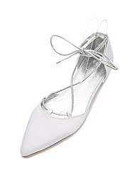 Women's Wedding Shoes Comfort Ballerina Mary Jane D'Orsay & Two-Piece Ankle Strap Spring Summer Satin Wedding Dress Party & Evening
