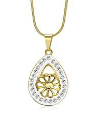 Women's Choker Necklaces Pendant Necklaces Chain Necklaces Cubic Zirconia Rhinestone AAA Cubic Zirconia Geometric Drop IrregularZircon