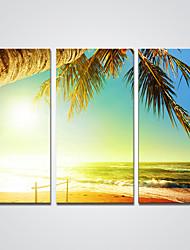 billige -Strukket Lærred Print Tre Paneler Kanvas Horisontal Print Vægdekor For Hjem Dekoration