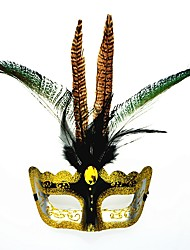 1PC For Halloween Mask Costume Party Masquerade Birthday Party Holiday Decorations Color Random