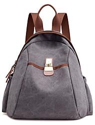 preiswerte -Damen Taschen Leinwand Rucksack für Normal Herbst Ganzjährig Blau Weiß Schwarz Grau Kaffee