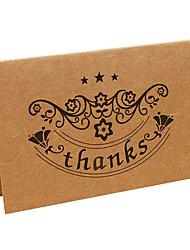 Kraft Thank You Cards-10 Piece/Set------Three Stars