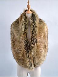 Women's Faux Fur Rectangle Solid Fall Winter
