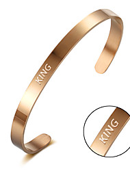 Titanium bracelet female Korean minimalist opening C rose gold electroplating Bracelet Valentine's Day gifts