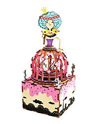 baratos -Quebra-Cabeça Quebra-Cabeças de Madeira Cisne Fonógrafo Desenho Faça Você Mesmo De madeira Composto Crianças Dom
