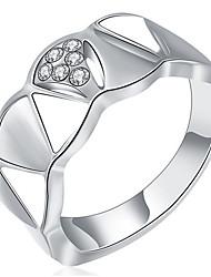 Dámské Široké prsteny Přizpůsobeno Luxus Klasické Základní Sexy láska Módní Cute Style Elegantní Slitina Geometric Shape Šperky Vánoce