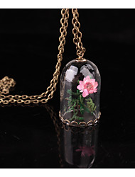 cheap -Women's Floral Flower Pendant Necklace  -  Floral Tube Rainbow Necklace For Wedding Party Birthday