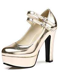 Women's Heels Gladiator Basic Pump Spring Fall Customized Materials Leatherette Dress Party & Evening Office & Career Buckle Chunky Heel