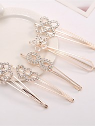 cheap -Korean Version of the Simple Imported Diamond Side Folder Folder Folder Bangs Folder Hairpin Boutique Goods Wholesale 5PCS Mixed