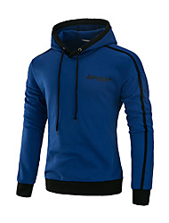 Men's Sports Casual/Daily Simple Spring Fall Jacket,Solid Hooded Long Sleeve Regular Spandex