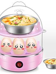 Egg Cooker Double Eggboilers Santé Multifonction Créatif Bruit faible Indicateur d'alimentation Détachable 220V