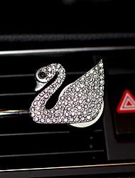 Automobile aria uscita griglia profumo semplice bianco cigno cigno cristallo fiore rosso blu rosa bianca automotive purificatore d'aria