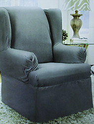 cheap -Modern Polyester Wing Chair Cover , Relaxed Fit Antiskid Toiles Slipcovers