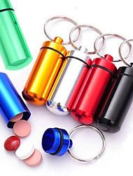 Недорогие -6pc новинка мини капсула в форме бутылки держатель контейнера брелок кухня хранения