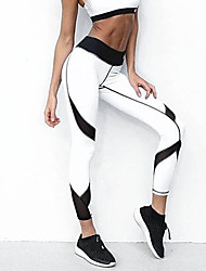 cheap -Women's Medium Stitching Solid Color Legging,Solid White Black Gray