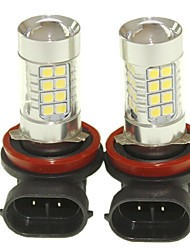 Sencart 2pcs H8 PGJ19-1 Fog Driving Light Headlight Bulbs Lamps(White/Red/Blue/Warm White) (DC/AC9-32V)