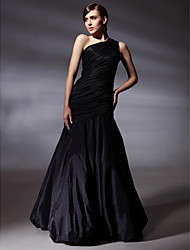 cheap -Mermaid / Trumpet One Shoulder Floor Length Taffeta Prom / Formal Evening Dress with Side Draping by TS Couture®
