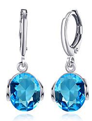 cheap -Women's Drop Cubic Zirconia Zircon Drop Earrings - Basic / Fashion Green / Gold / White / Light Blue Earrings For Party / Work