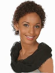 abordables -Cheveux Synthétiques Perruques Bouclé Perruque afro-américaine Perruque Naturelle Court Brun