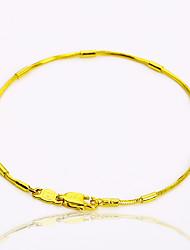 baratos -Mulheres Pulseiras em Correntes e Ligações - Chapeado Dourado Personalizada, Vintage, Básico Pulseiras Dourado Para Festa / Presente / Casual