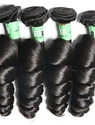 Недорогие -Индийские волосы Свободные волны Ткет человеческих волос 4шт Мягкость Человека ткет Волосы Повседневные