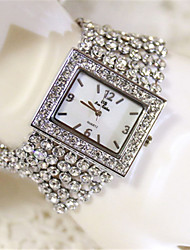 Women's Simulated Diamond Watch Quartz Water Resistant / Water Proof Alloy Band Sparkle Silver