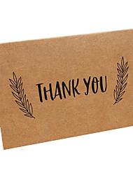 Недорогие -Верхний сгиб Свадебные приглашения-Спасибо карты Пергаментная бумага