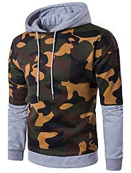 Men's Plus Size Sports Outdoor Sports Casual/Daily Plus Size Running Simple Active Hoodie Print Color Block Stripe Patchwork Hooded