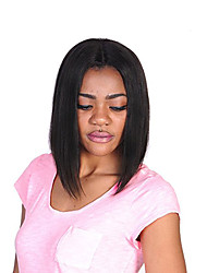 Side Part Silk Straight Bob Wigs For Dark Skin Color Women Glueless Full Lace Human Hair Wigs Conveniently Wearing