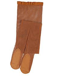 cheap -Soft Dance Ballet Transition Tight socks for kids Cloth Net brown socks